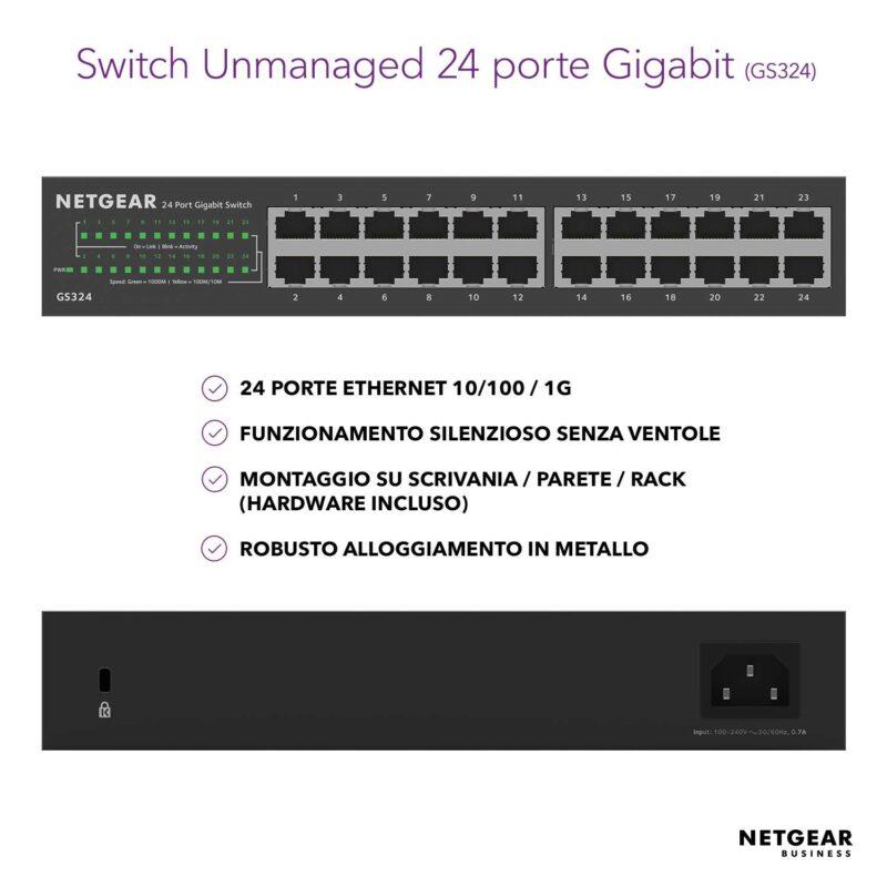 NETGEAR GS324 Switch Unmanaged