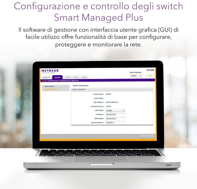 NETGEAR GS305E Switch Smart Managed