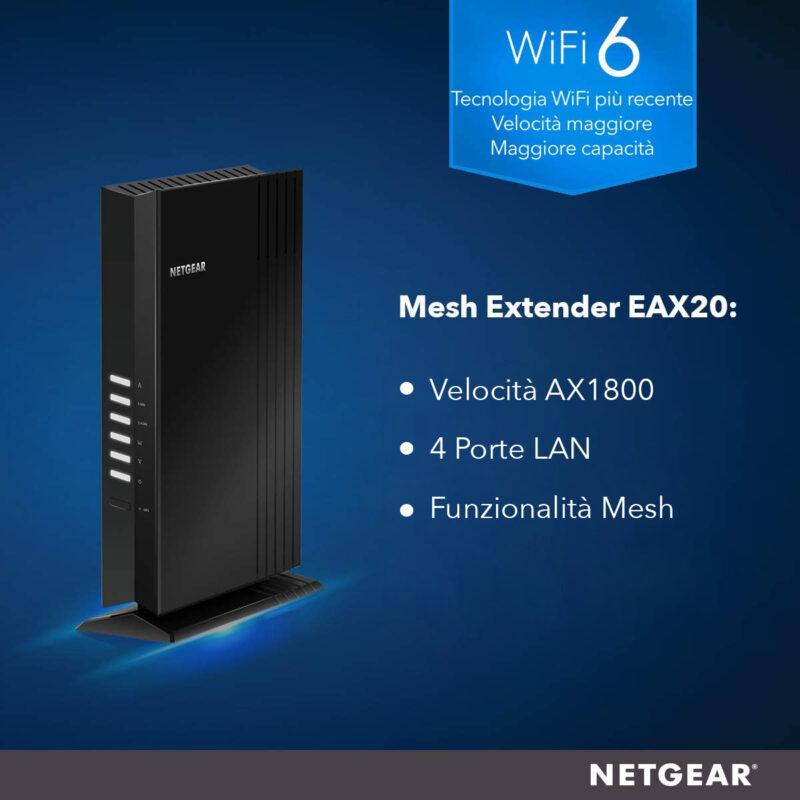 NETGEAR Ripetitore WiFi 6 AX1800