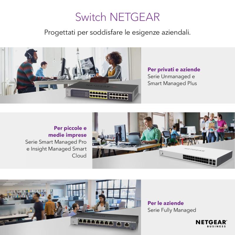 NETGEAR GS316P Switch Unmanaged
