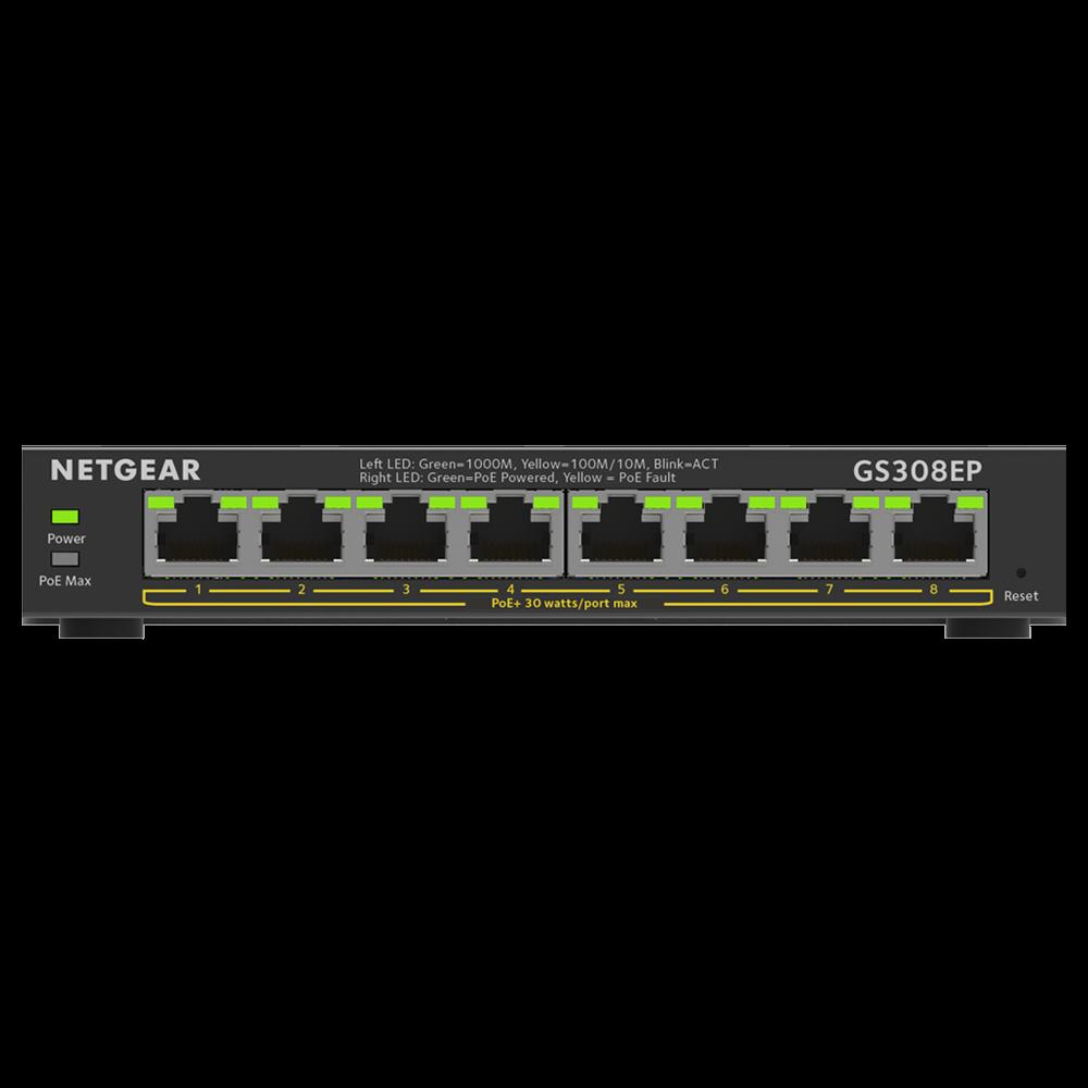 NETGEAR GS308EP Switch Smart Managed Plus PoE+